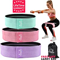 Resistance Exercise Bands for Legs and Butt, Hip Bands Booty Bands Wide Workout Bands Resistance Loop Bands Anti Slip Circle Fitness Band Elastic Sports Bands(2019 Upgraded) …