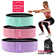 Resistance Exercise Bands for Legs and Butt, Hip Bands Booty Bands Wide Workout Bands Resistance Loop Bands Anti Slip Circle Fitness Band Elastic Sports Bands(2019 Upgraded)