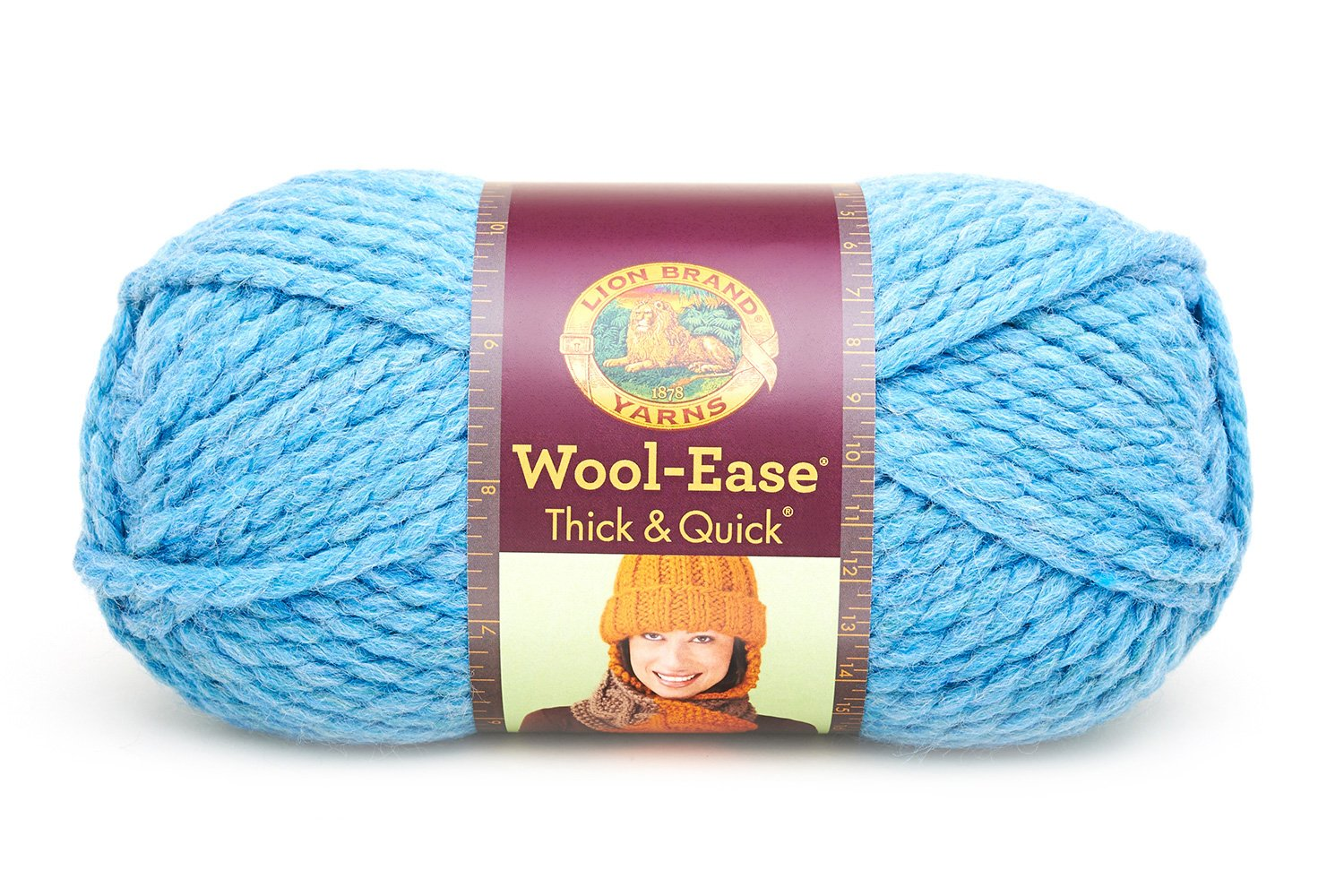 Raisin Pack of 3 skeins Lion Brand Yarn 640-144 Wool-Ease Thick /& Quick Yarn