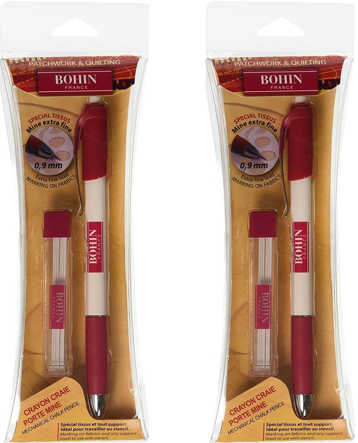 Bohin Extra-Fine Chalk Pencil (2 Pack)