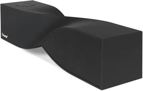 ISound- Twist Rechargeable Wireless Speaker with Advanced Sound Geometry, Echo Free Noise Rejecting Microphone -Black