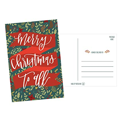 amazon com 50 holiday greeting cards cute fancy blank winter