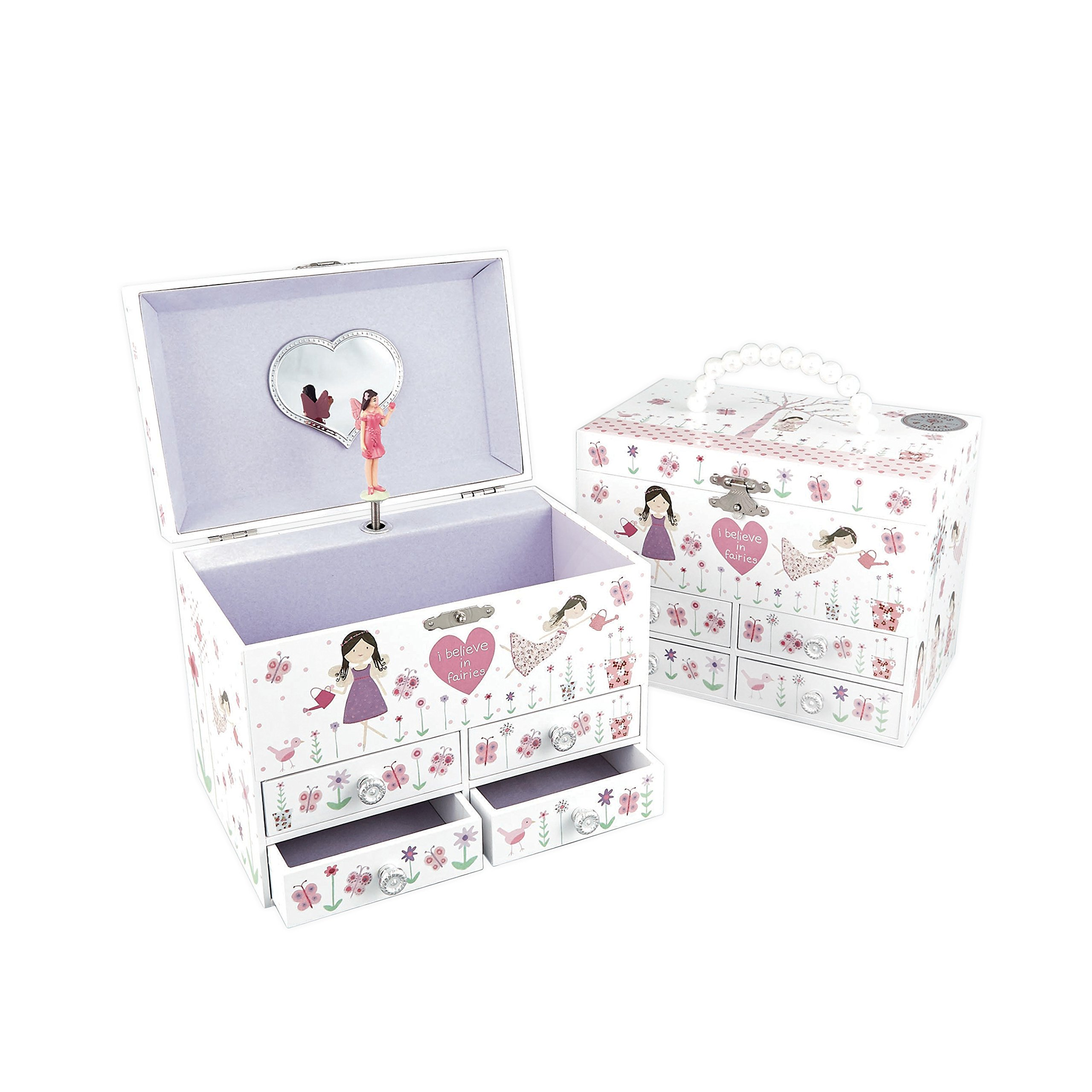 Dancing Fairy Blossom Musical Drawer Large Kids Jewelry Box Plays Waltz of the Flowers