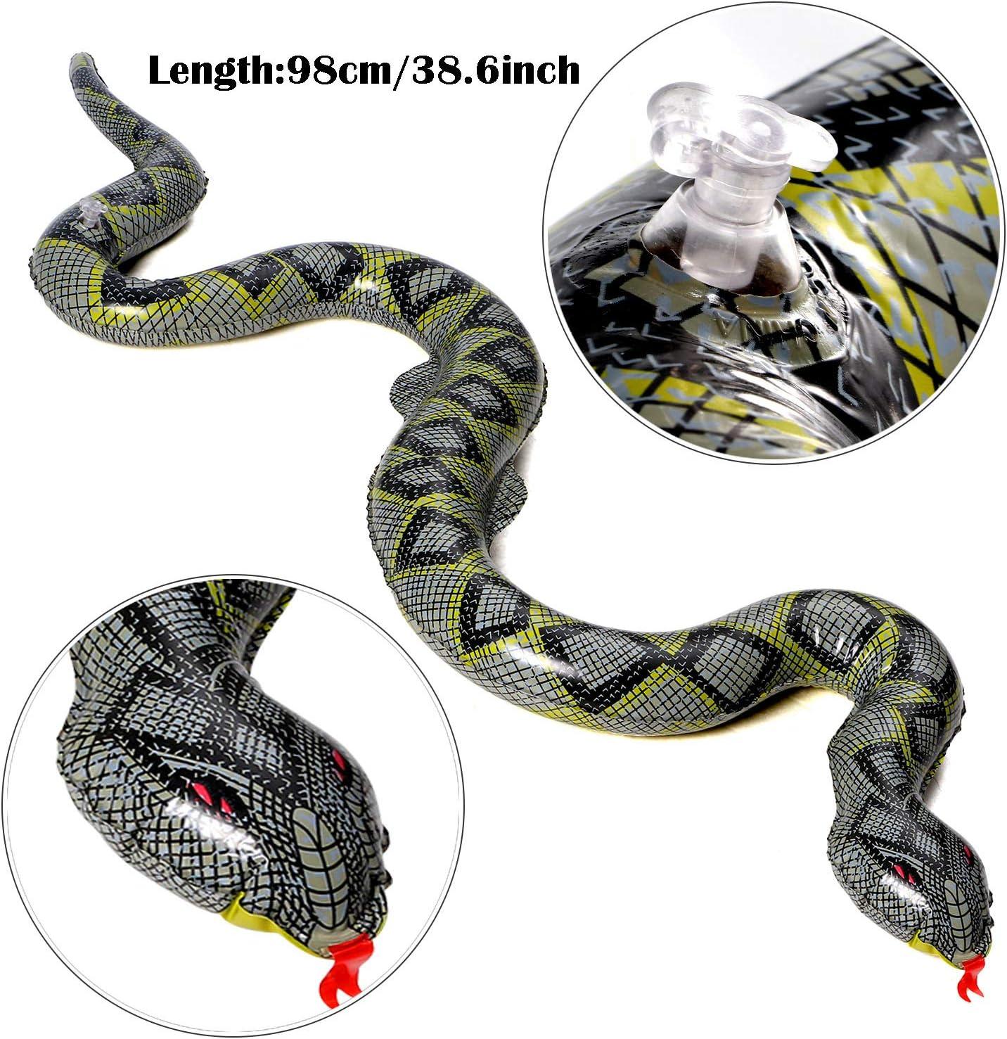 Amazon.com: Joyjon - 3 piezas de serpiente grande de goma ...