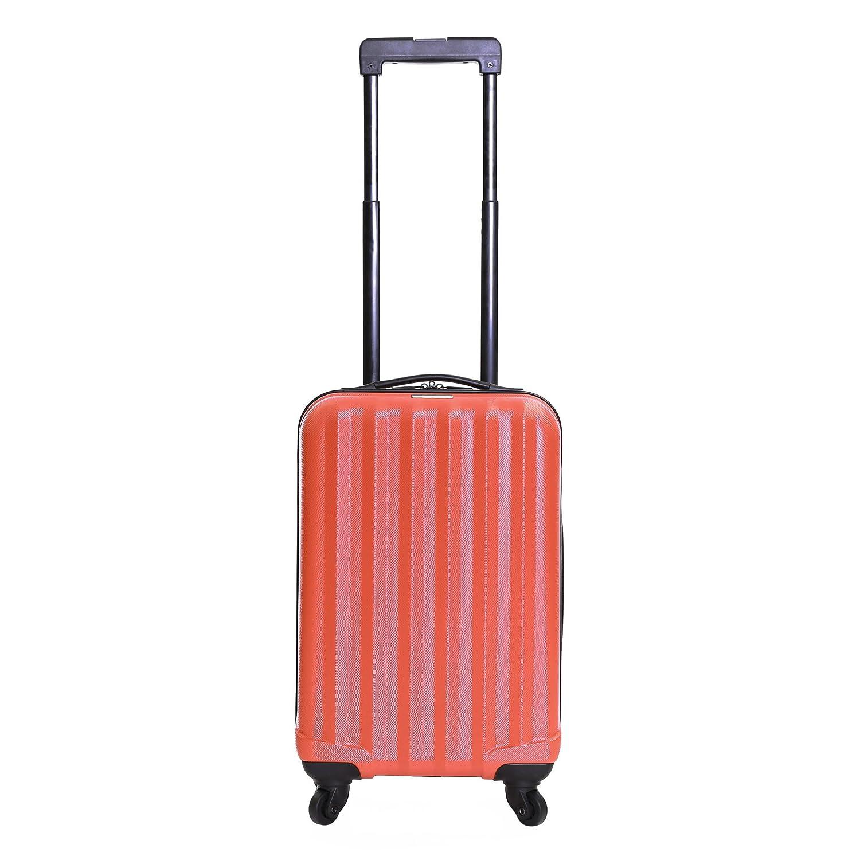 Karabar Monaco ABS Bagage Cabine - Bagage à Main Valise Rigide Légere à 4 Roulettes, Approuvées pour Ryanair, EasyJet, Air France, Lufthansa, Jet2 et Plus (Argent)
