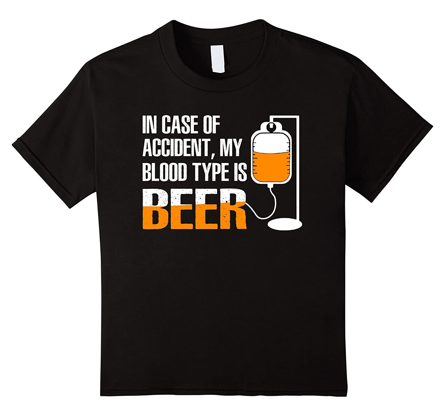 Drink T shirt Accident Blood Black-Awarplus