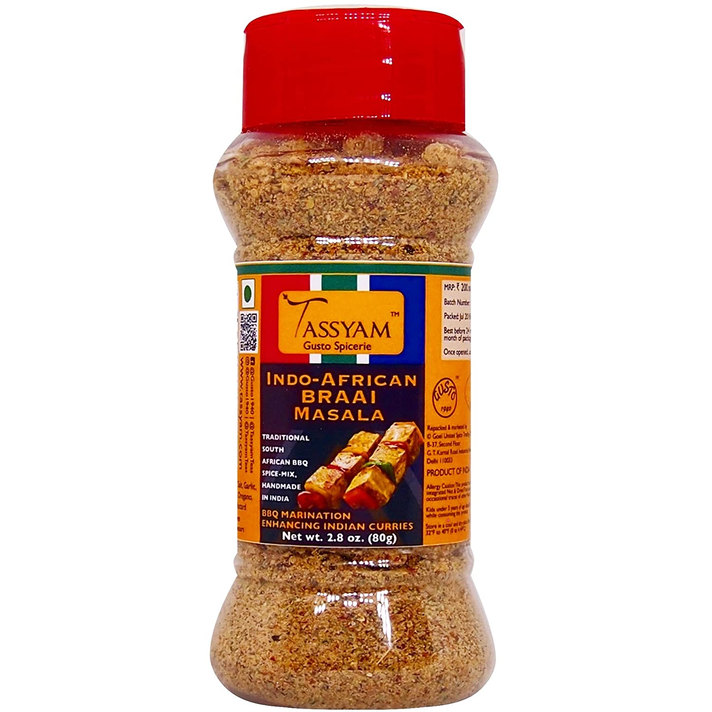 Tassyam BRAAI Indo African Seasoning 80g | Dispenser Bottle,