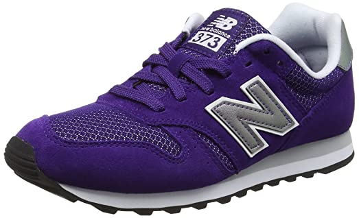 new balance 373 black and purple trainers