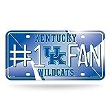 NCAA Kentucky Wildcats #1 Fan Metal License Plate