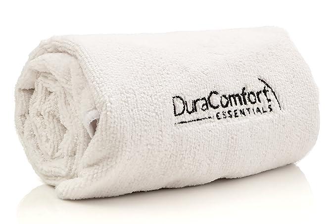 DuraComfort Essentials Súper toalla absorbente de microfibra anti encrespamiento del cabello, grandes 41 x 19 pulgadas Blanco: Amazon.es: Belleza