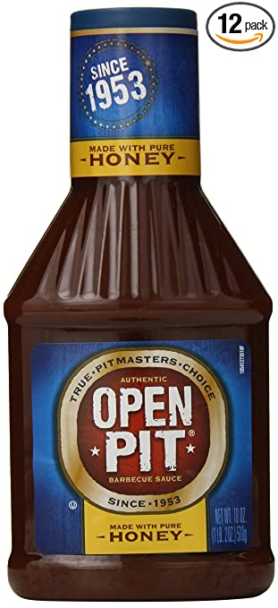 Open Pit Barbecue Sauce, Honey, 18 Ounce (Pack of 12)