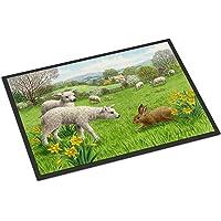 "Caroline's Treasures ASA2179MAT Lambs, Sheep and Rabbit Hare Indoor or Outdoor Mat, 18"" x 27"", Multicolor"