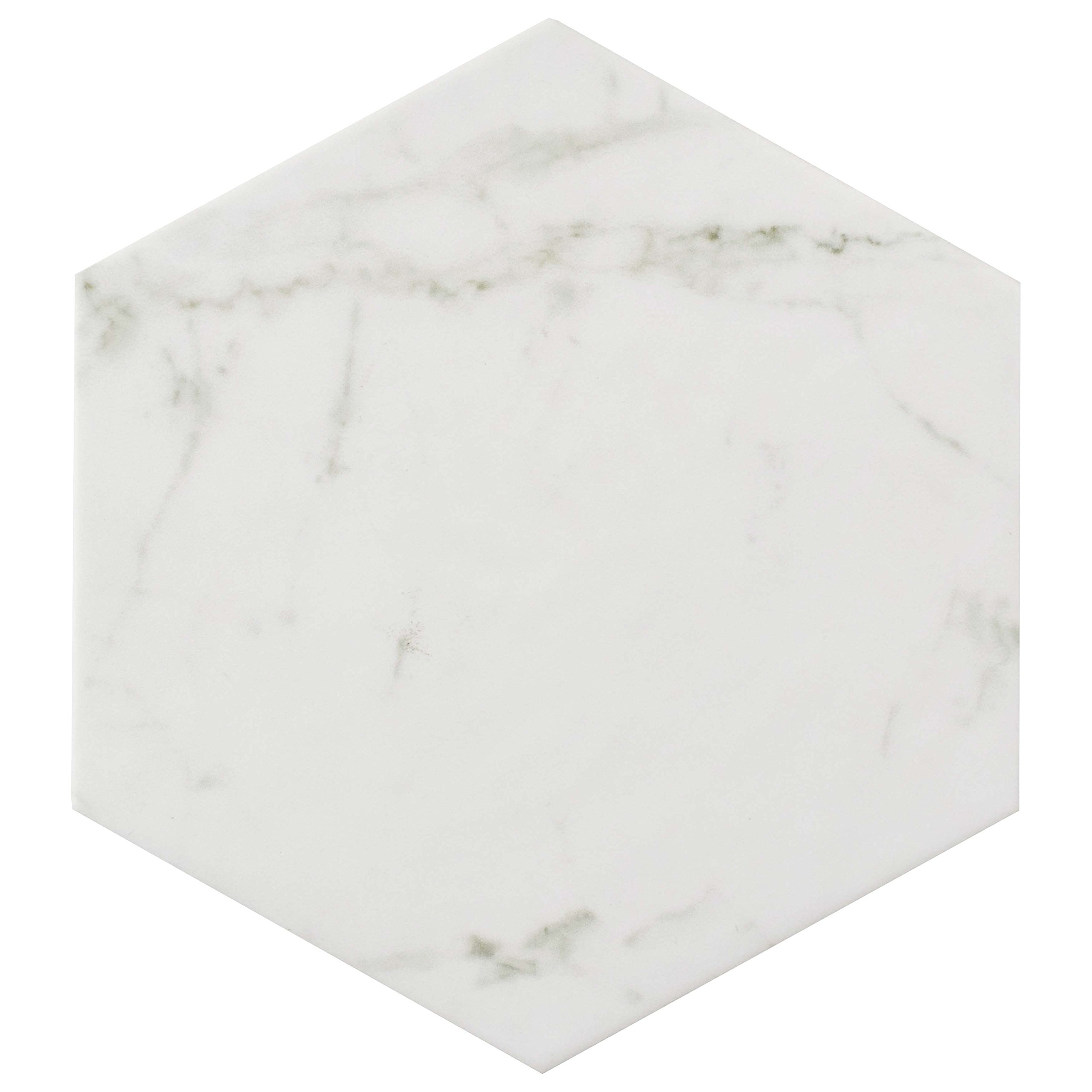 SomerTile FEQCRX Murmur Carrara Hexagon Porcelain Floor & Wall Tile, 7'' x 8'' (Pack of 25) by SOMERTILE (Image #3)