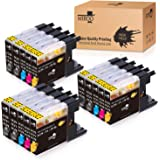 MIROO Compatible Ink Cartridge Replacement for Brother LC75 LC71 LC79 XL 15-Pack, Work for Brother MFC J280W J825DW…