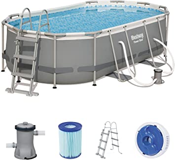 Bestway Power Steel 56620 - Piscina (Piscina con Anillo Hinchable ...
