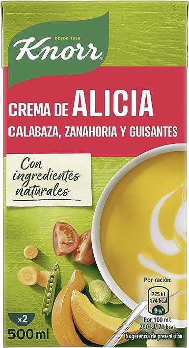 Knorr - Crema Alicia, 500ml - [pack de 4]: Amazon.es: Alimentación y bebidas
