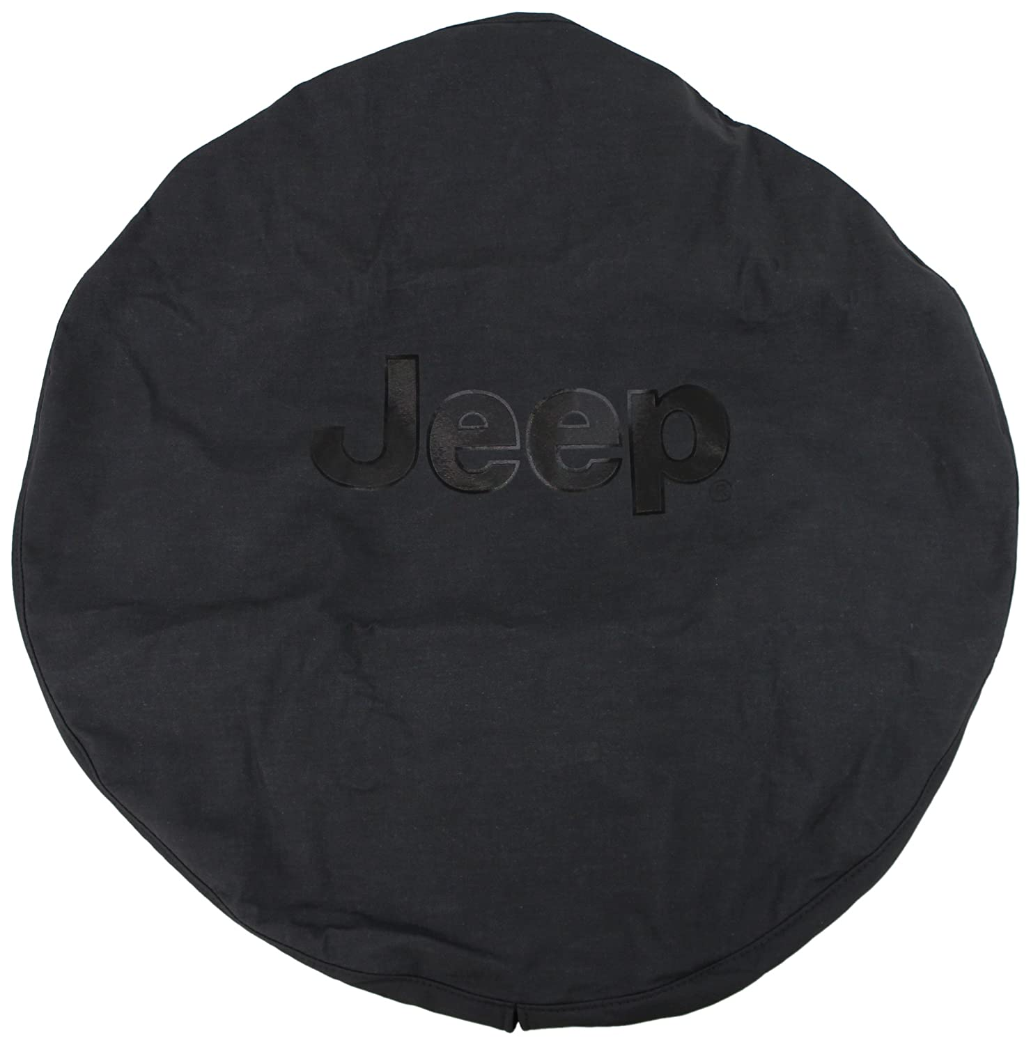 Genuine Jeep Accessories 82207955AC Cloth Spare Tire Cover with Black Jeep Logo