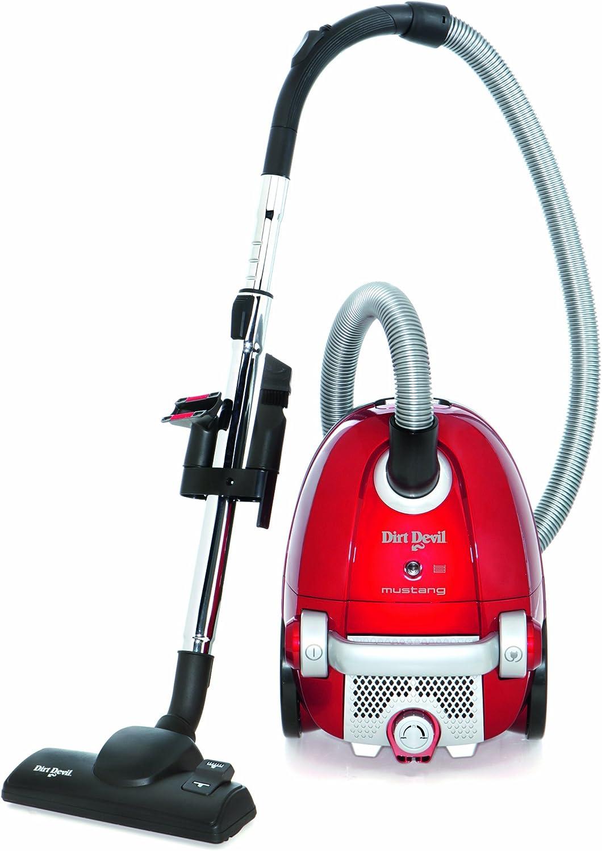 Dirt Devil M7017-1 - Aspiradora con bolsa, 2200 W, con cepillo para parqué y juego de accesorios, color rojo y negro: Amazon.es: Hogar