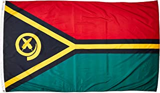 product image for Annin Flagmakers Model 199258 Vanuatu Flag Nylon SolarGuard NYL-Glo, 5x8 ft, 100% Made in USA to Official United Nations Design Specifications