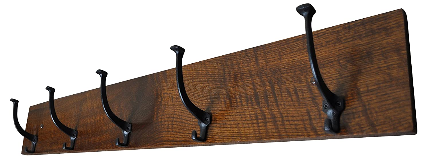 Amazon.com: Misión Coat Rack colgadero Solid quartersawn ...