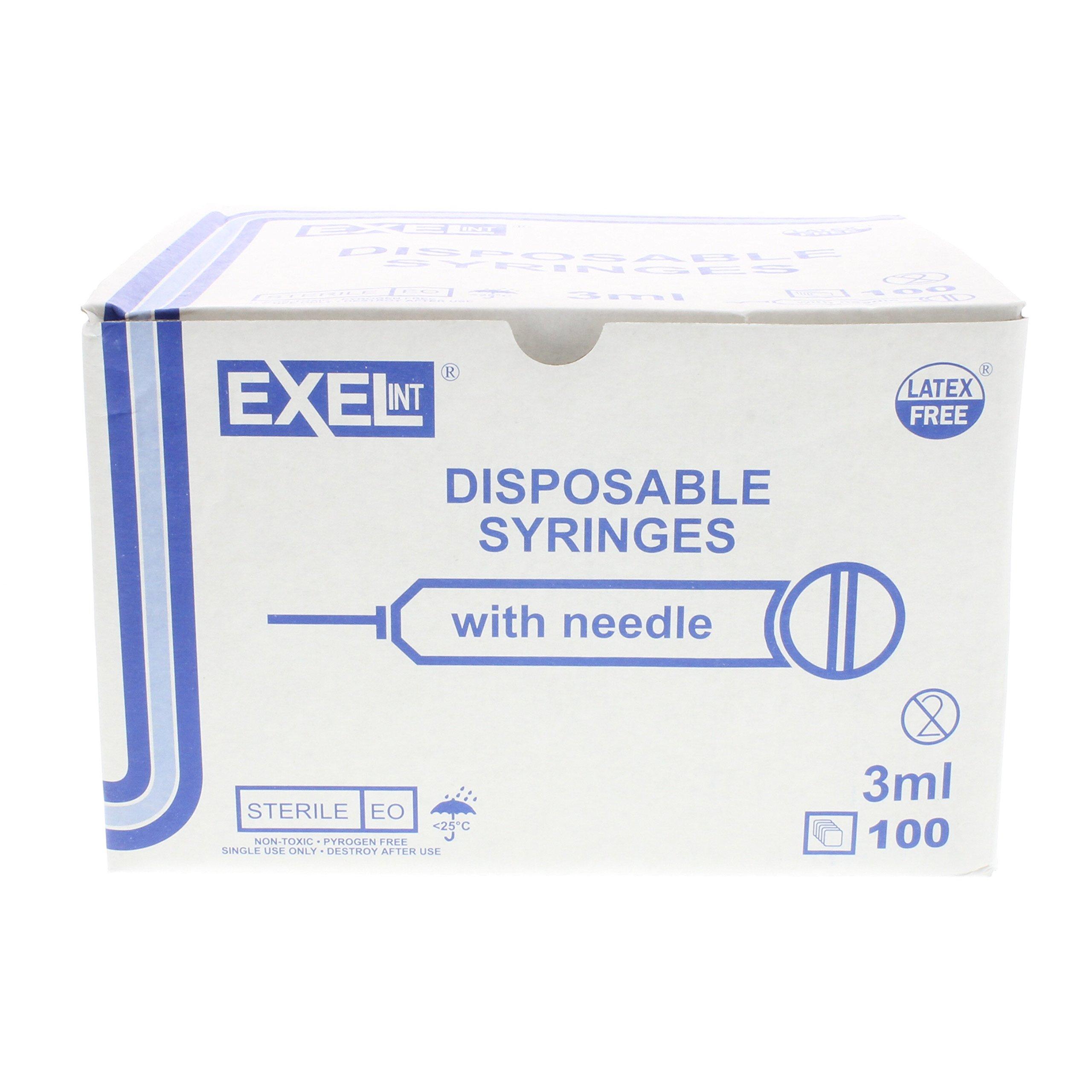 3mL Syringe with 23g x 1'' Box of 100