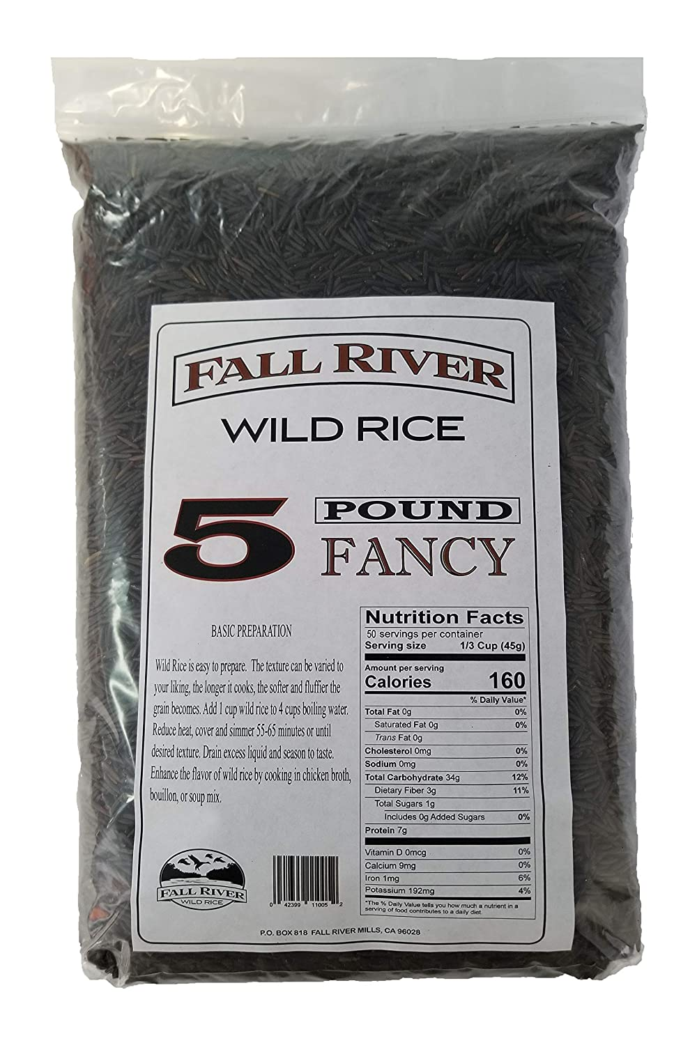 Fall River Wild Rice 6 Pounds - Fancy