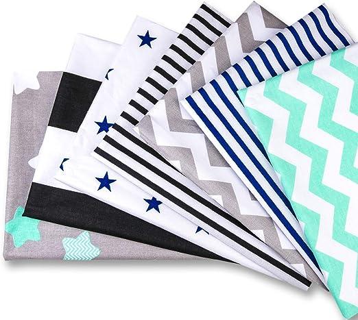Tela algodon Telas Patchwork 7 piezas 50 x 80 cm - Retales Tela para coser, Telas decorativas Costura y Manualidades por metros OEKO-TEX: Amazon.es: Hogar