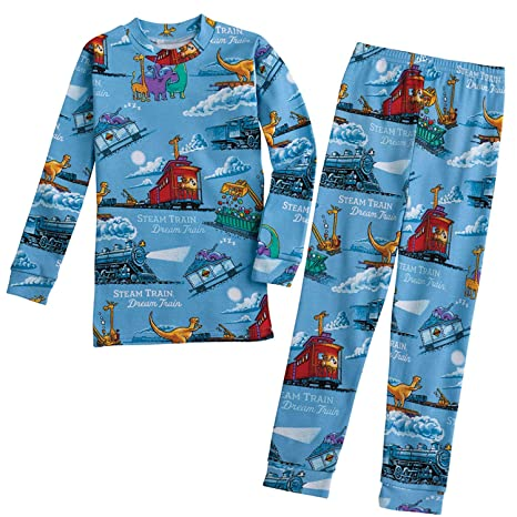 BASICALLY KIDS/BOOKS TO BED Children's Steam Train, Dream Train - Two-Piece Kid's Pajamas