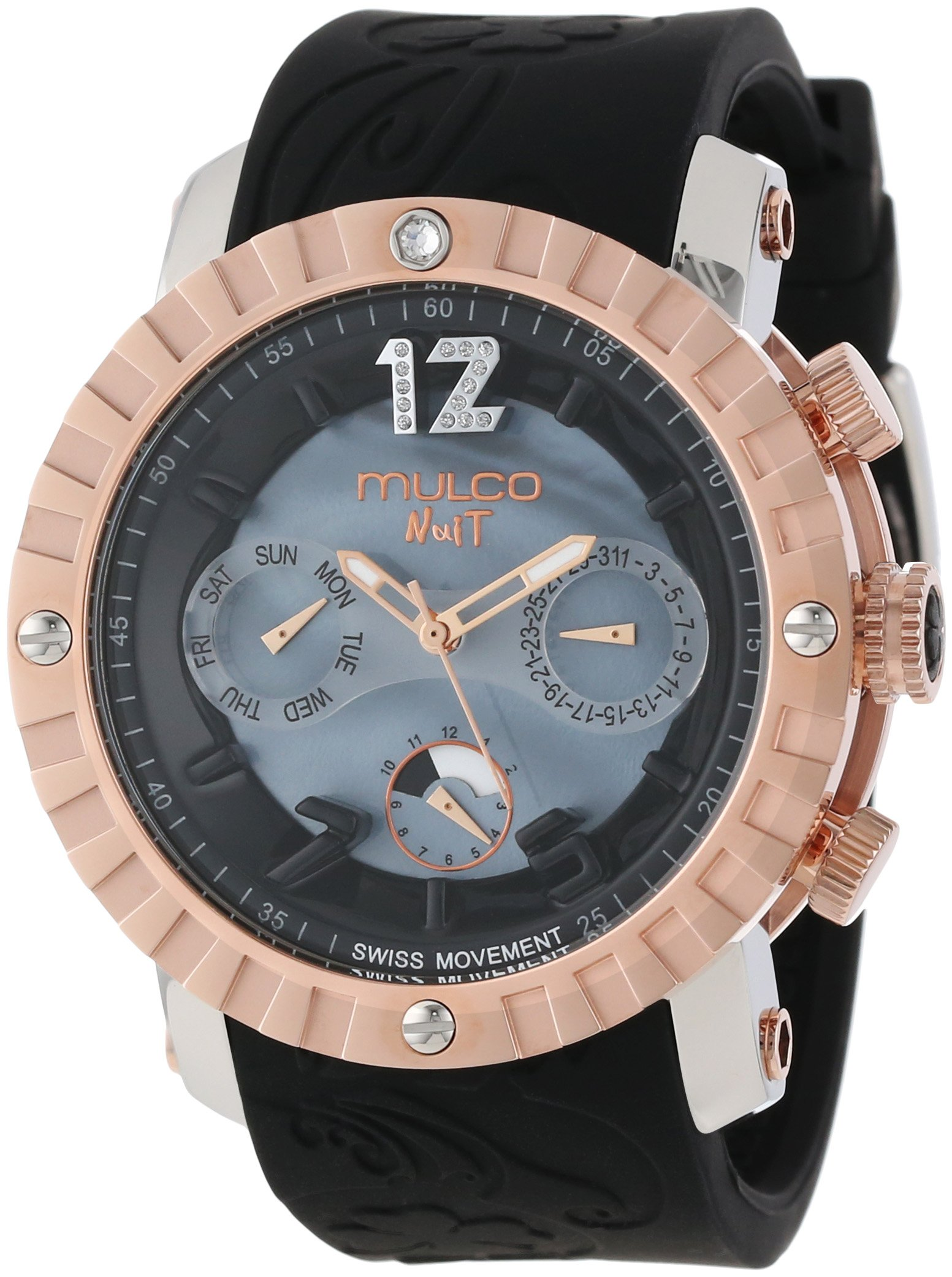 MULCO Unisex MW5-1876-023 Analog Chronograph Swiss Watch by MULCO