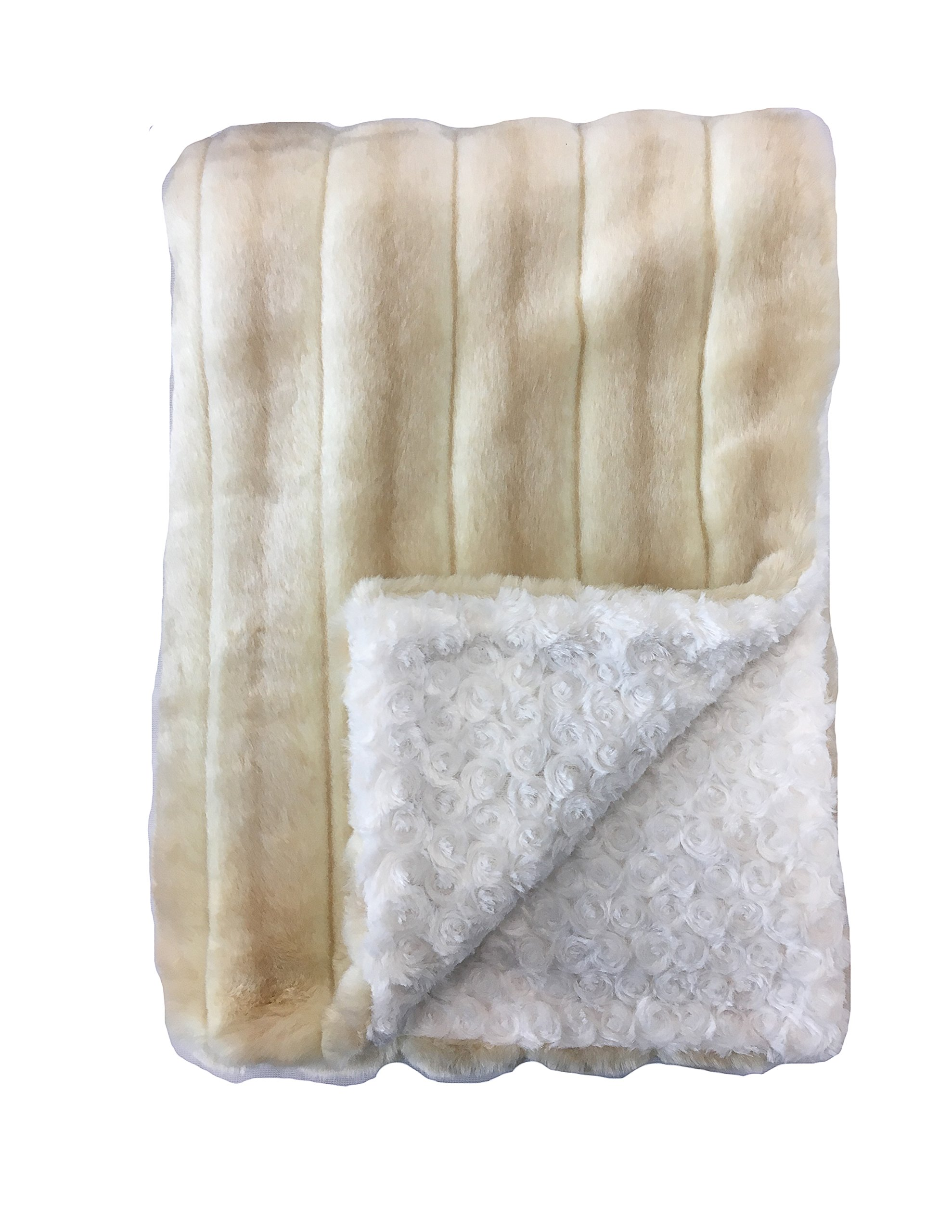 GoodDogBeds 15 by 18-Inch Faux Fur BaaBaa Dog Blanket, Small, Cr√me Brulee