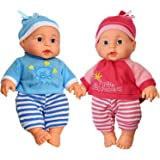 Little Princess Baby Twin Dolls, 9 Inch With Adorable Outfit Super Cute Boy and Girl Twin Doll