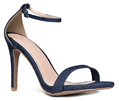 c5de169876d Aria Blue Denim High Heel Sandal