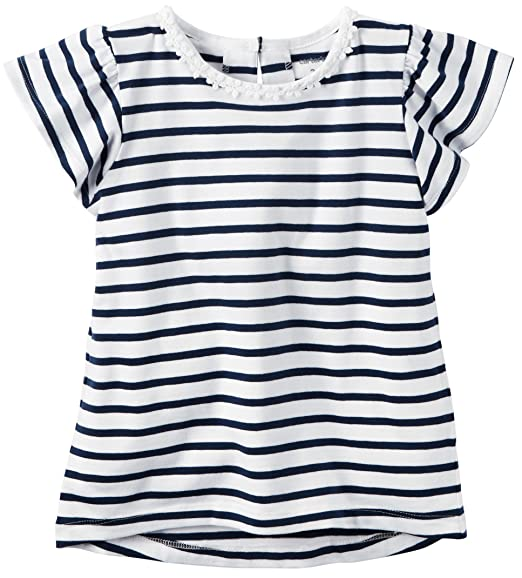 7bce9659641f7 Amazon.com: Carter's Baby Girl's Flutter Sleeve Striped Top, 3 ...