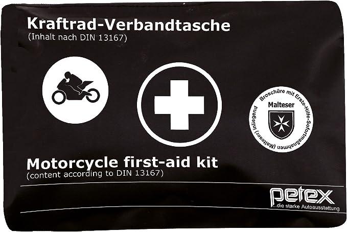 Petex 43939904 Motorrad Verbandtasche Schwarz Auto