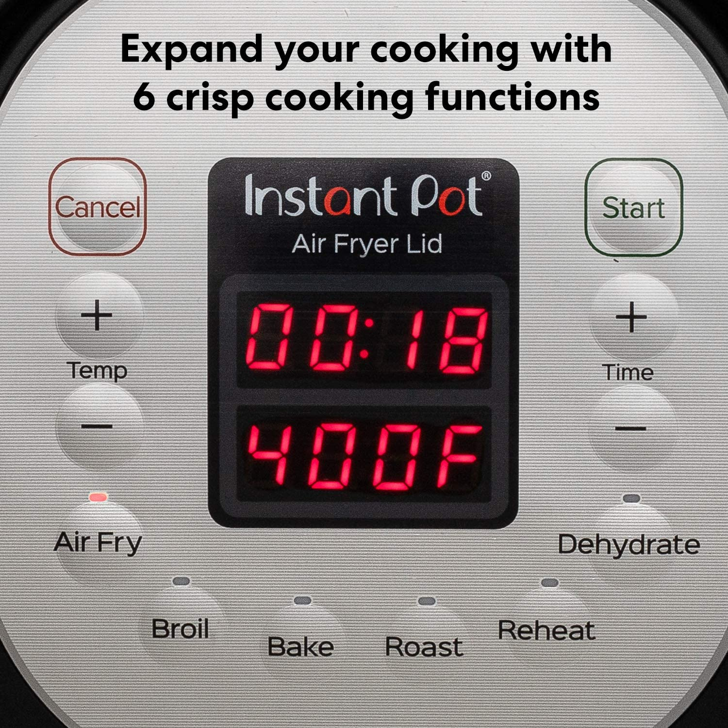 Instant Pot Air Fryer Lid - Cooking Functions and Buttons