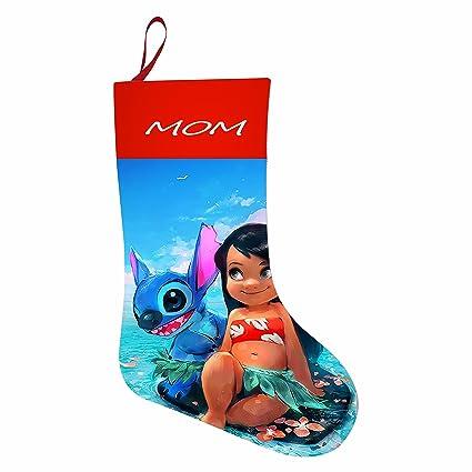 Lilo y Stitch Youtube decoraciones de vacaciones de Papá Noel calcetín de Navidad bolsa de regalo