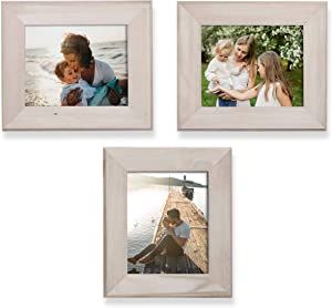 Wallniture 8x10 Unfinished Wood Picture Frames for Home or Office Decor Set of 3