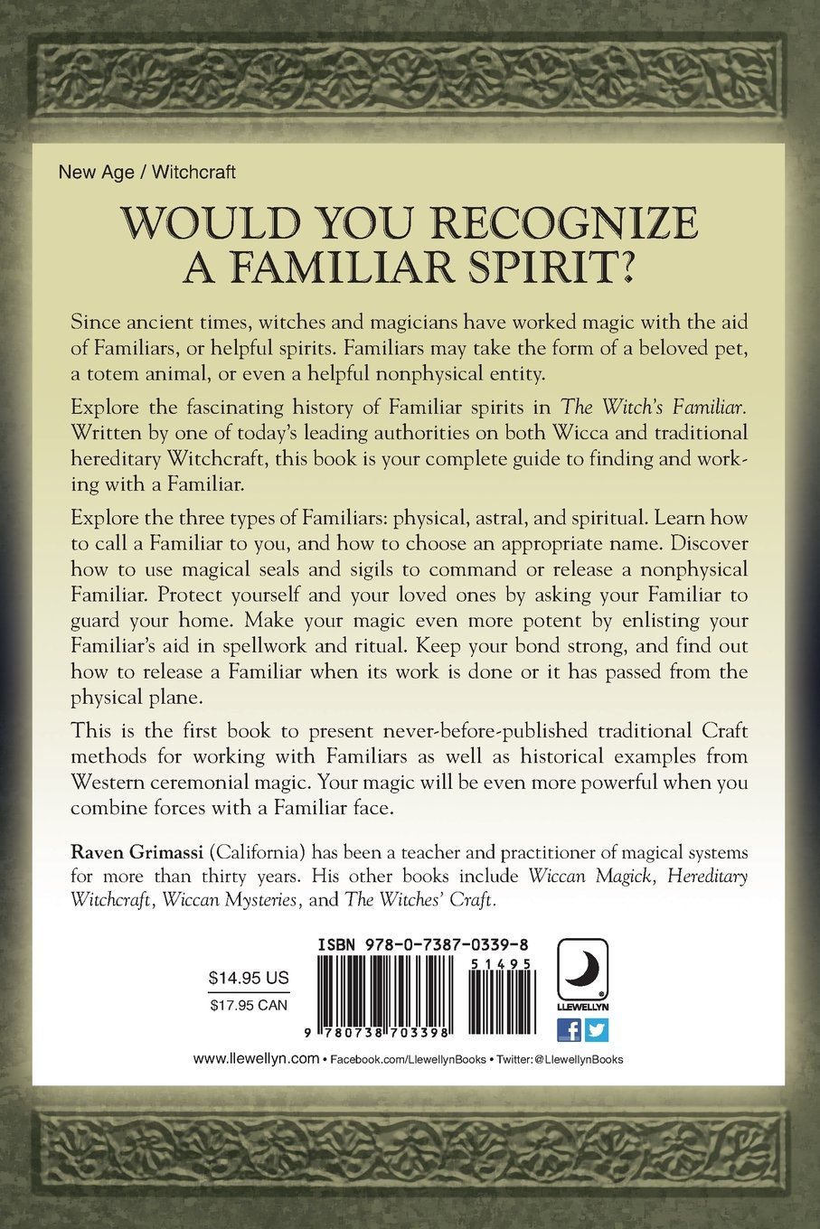 The Witch's Familiar: Spiritual Partnership for Successful