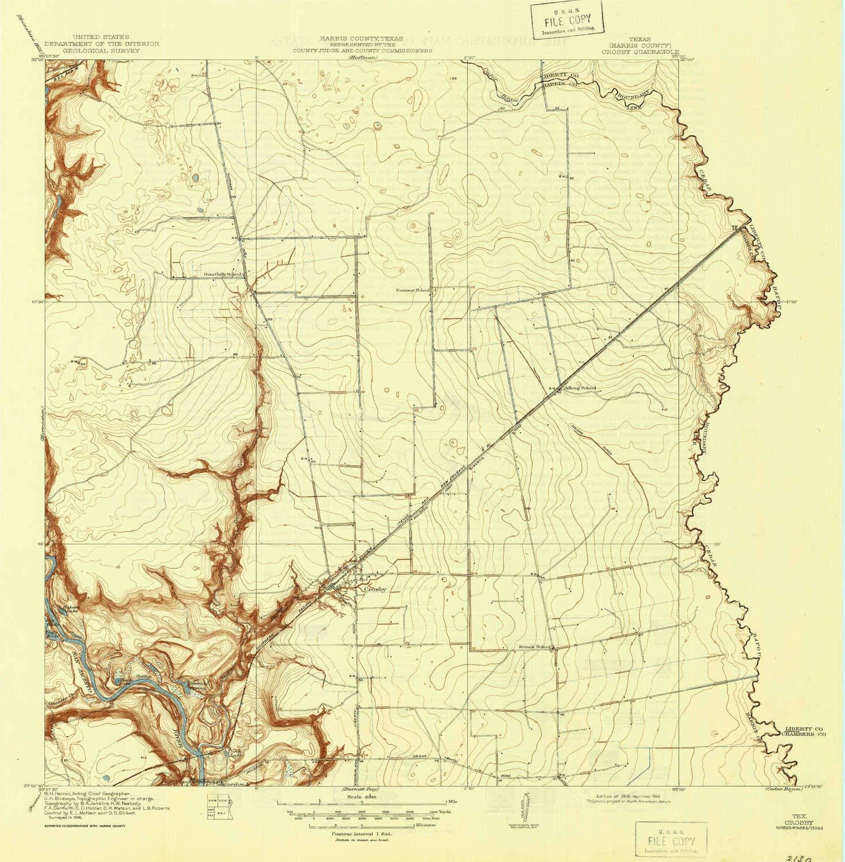 Amazon Com Yellowmaps Crosby Tx Topo Map 1 31680 Scale 7 5 X 7 5