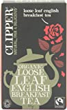Clipper Fairtrade Organic Loose Leaf English Breakfast Tea 125 g (Pack of 6)