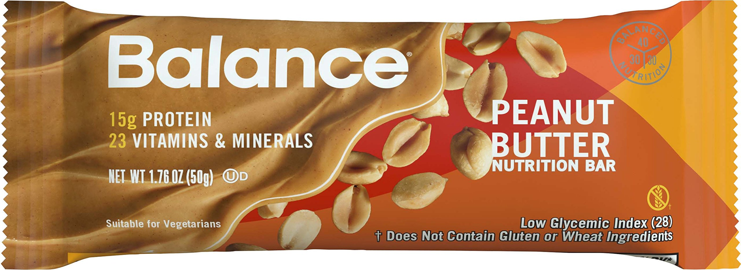 Balance Bar, Peanut Butter, 6-Count (Pack of 6)
