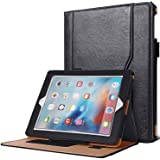 SAVFY iPad 2/3/4 Book Case Premium Flip Leather Wallet Smart Cover for iPad 2 3 4, Black