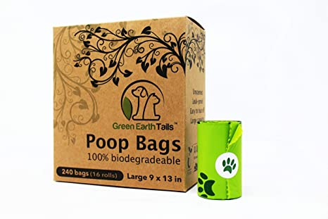 Amazon.com: Green Earth colas bolsas de caca perro bolsas de ...