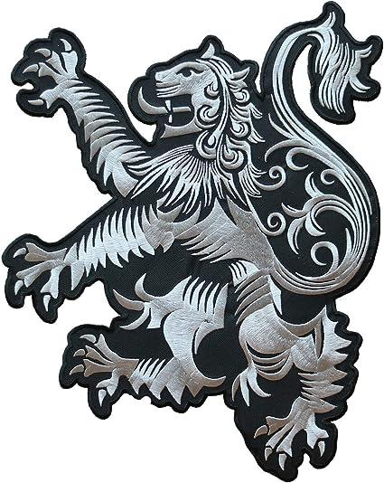 RAMPANT LION DESIGN EMBROIDERED ONTO A TEE SHIRT SCOTLAND SCOTTISH SCOTS