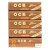 OCB Virgin Unbleached King Size Slim Rolling Papers + Filter Tips Cigarette Papers...