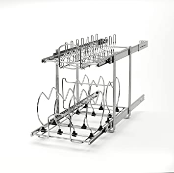 Bat Bus 12 >> Rev A Shelf 5cw2 1222 Cr 12 In Pull Out 2 Tier Base Cabinet Cookware Organizer