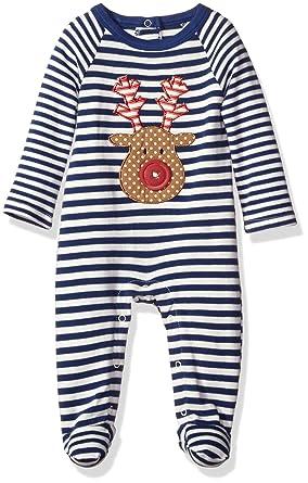 2ecdad8037 Amazon.com  Mud Pie Baby Boys  Footed One Piece Striped Sleeper  Clothing