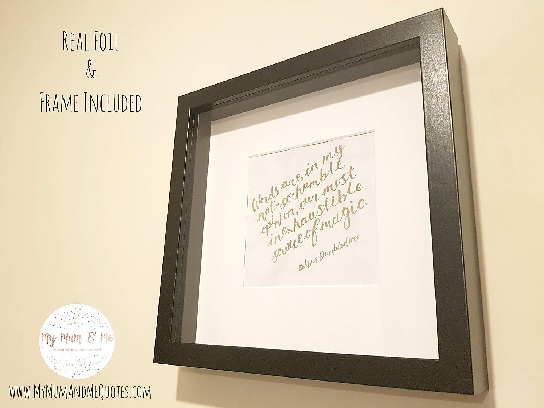 Amazoncom Handmade Harry Potter Framed Quotation Dumbledore