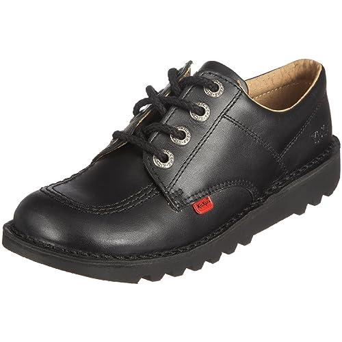 Kickers Unisex Kids Kick Lo Youth Shoes, Black/Black, 4 UK ((