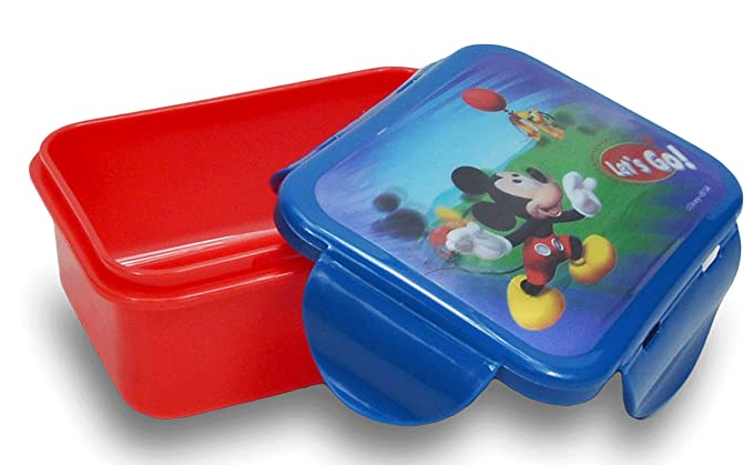 Disney Mickey Mouse Minnie Lunch Container Box by ZAK BPA Free  3D Rectangle